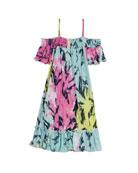 Flowers by Zoe Smocked Ruffle Tie Dye Dress,