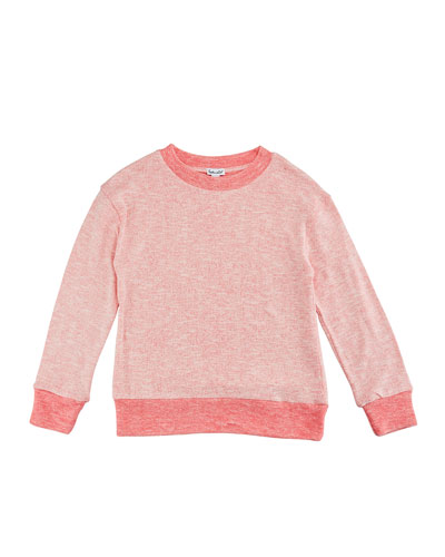 Two-Tone Loose Knit Top, Size 7-14