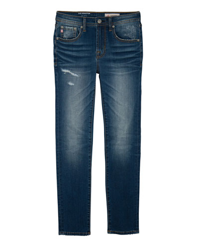 Boys' Kingston Skinny Slim Distressed Denim Jeans, Size 8-14