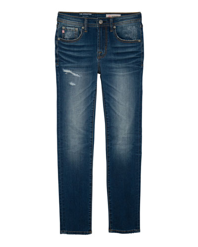 Boys' Kingston Skinny Slim Distressed Denim Jeans, Size 4-7