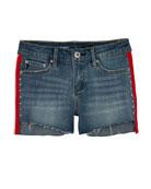 AG Adriano Goldschmied Girls' Brezlyn High-Low Shorts w/