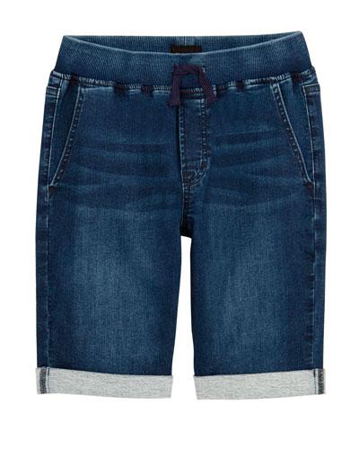 Boys' Taj Drawstring Denim Shorts, Size S-XL