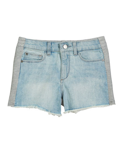 Lucy Denim & Heathered Jersey Shorts, Size S-L