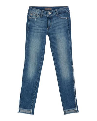 Chloe Raw Hem Denim Skinny Jeans, Size 7-16