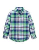 Ralph Lauren Childrenswear Long-Sleeve Plaid Button-Down Shirt,