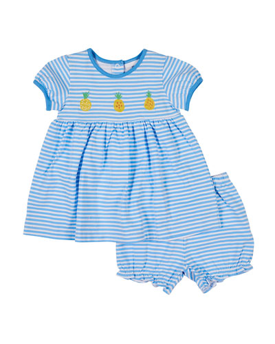 0b2bc5701 Quick Look. Florence Eiseman · Pineapple Embroidered Stripe Dress w   Matching Bloomers