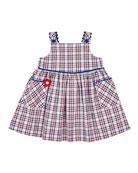 Florence Eiseman Plaid Rick Rack Dress, Size 2-6X