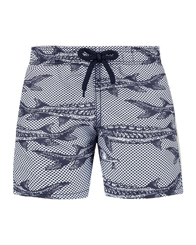 62a22f58be Quick Look. Vilebrequin · Jim Fish Print Swim Trunks ...