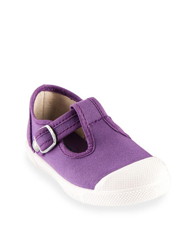 Cap Toe Cotton Canvas Mary Jane, Toddler