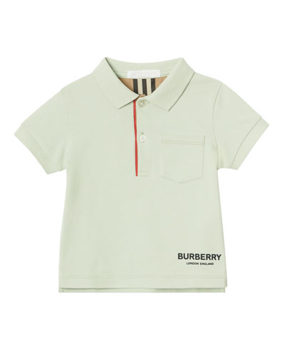 Wesley Logo Polo Shirt w/ Pocket, Size 6M-2