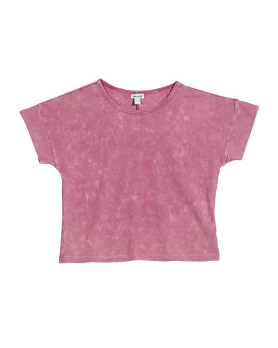 Ribbed Short-Sleeve Top, Size 7-14