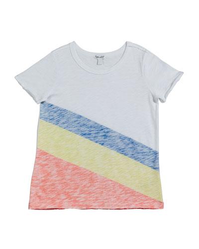 Sunrise Stripe Slub Jersey Top, Size 7-14
