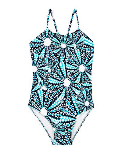 Gazette Printed One-Piece Swimsuit, Size 2-14