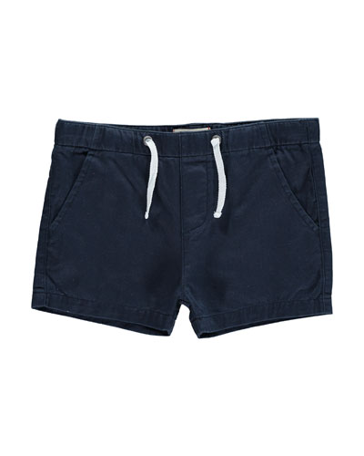 Cotton Twill Shorts, Size 2T-10