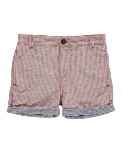 Woven Striped Shorts, Size 2T-10