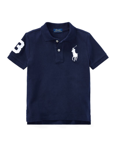 Big Pony Pique Knit Polo, Size 2-3