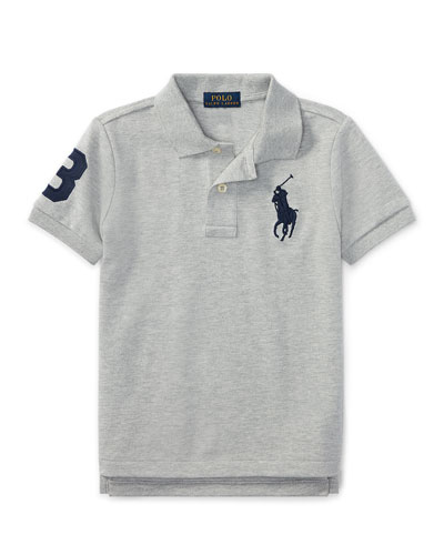Big Pony Pique Knit Polo, Size 4-7