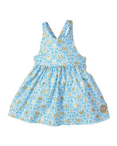 Golden Chickadee Sleeveless Dress, Size 7-10