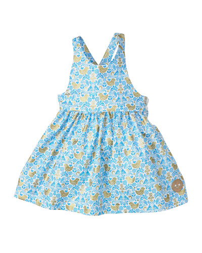 Golden Chickadee Sleeveless Dress, Size 18M-6