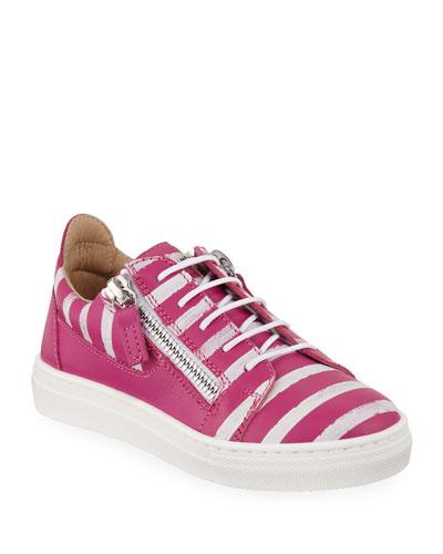 buy popular abc79 8cec8 Striped Leather Sneaker   Neiman Marcus