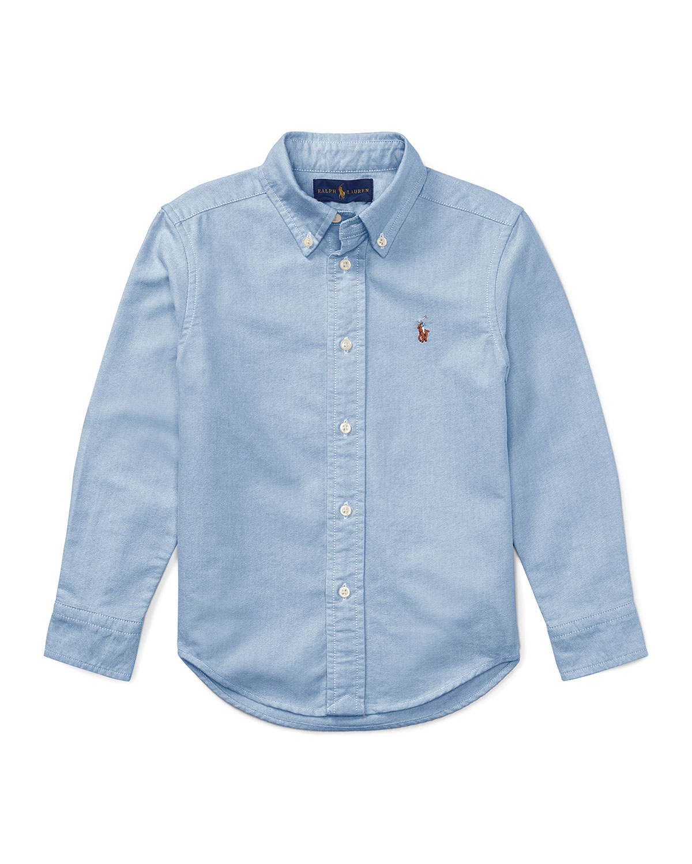 Ralph Lauren Childrenswear Kids' Oxford Sport Shirt In Blue