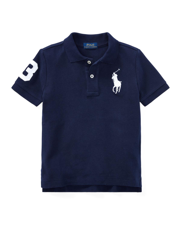 Ralph Lauren Childrenswear Kids' Big Pony Pique Knit Polo In Navy