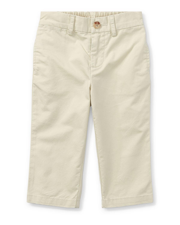 Ralph Lauren Childrenswear Kids' Suffield Straight-leg Cotton Pants In Beige