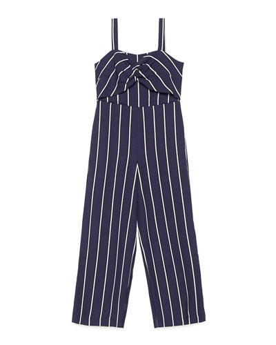 0c3332023580 Blue Striped Jumpsuit