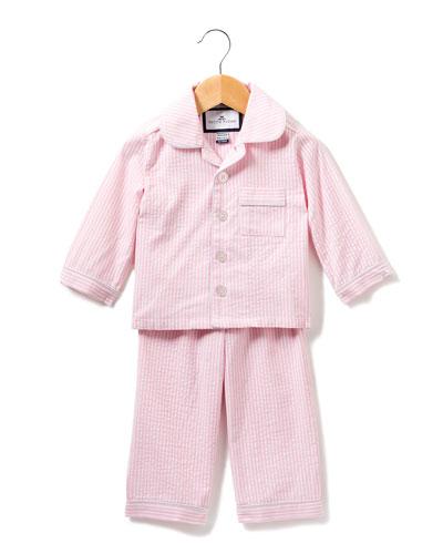 Stripe Seersucker Pajama Set, Size 6M-14