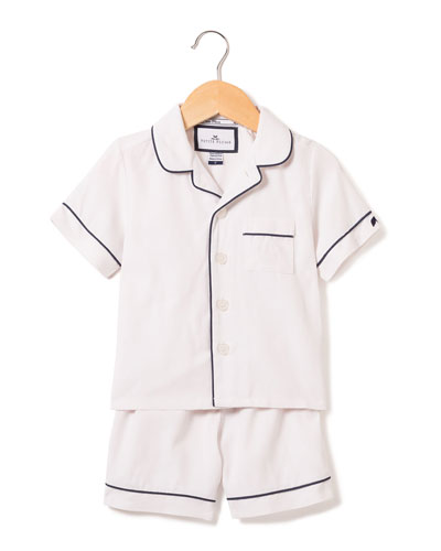 Classic Pajama Set w/ Contrast Piping, Size 6M-14