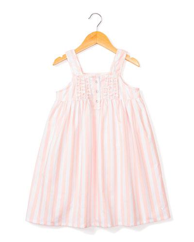 Charlotte Modern Stripe Nightgown, Size 6M-14