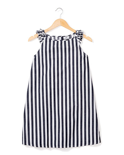 Amelie Modern Stripe Nightgown, Size 6M-14
