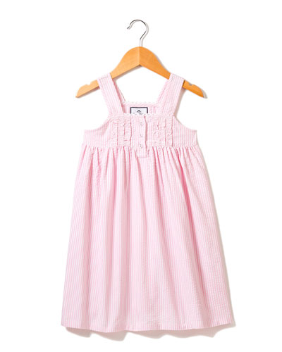 Charlotte Seersucker Nightgown, Size 6M-14