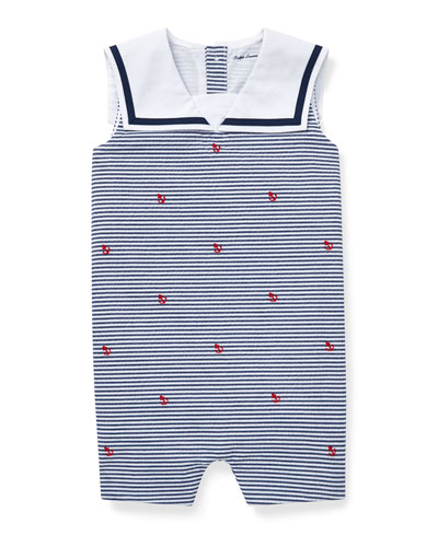 Anchor Schiffli Woven Playsuit, Size 3-12 Months