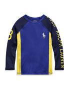 Ralph Lauren Childrenswear Colorblock Logo Rashguard, Size 2-4