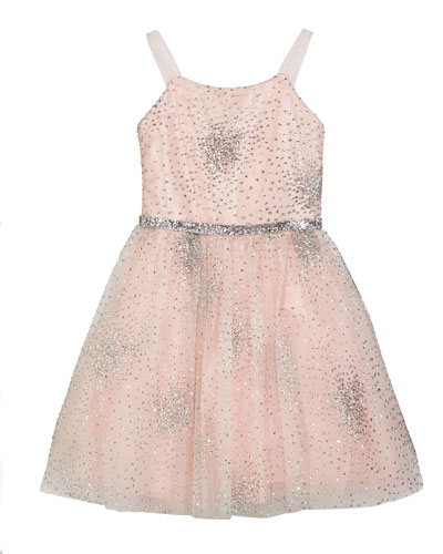 Amelia Sparkle Tulle Party Dress, Size 4-6X