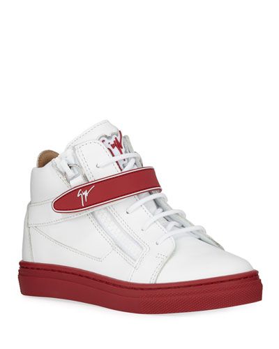 London Leather Grip-Strap High-Top Sneakers, Toddler/Kids