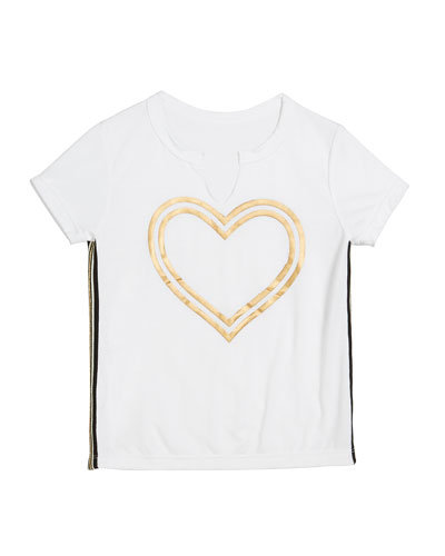 Gold Foil Heart Tee, Size S-XL