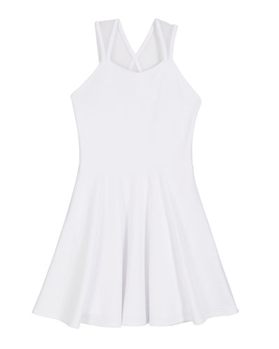 The Aspen Textured Knit Mesh Inset Dress, Size S-XL