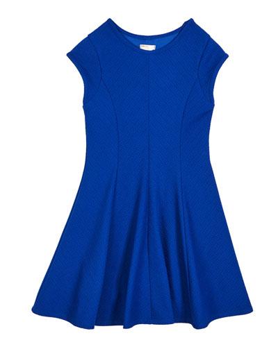 The Allie Textured Knit Short-Sleeve Dress, Size S-XL