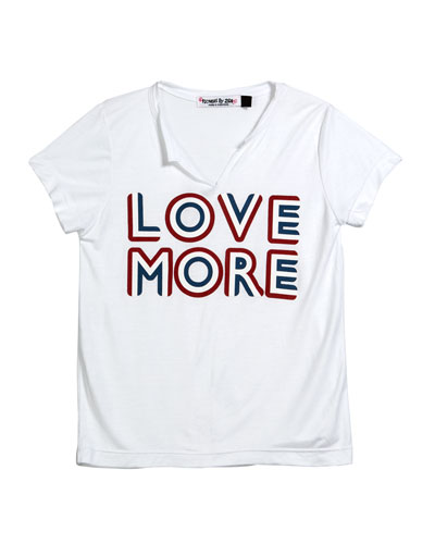 Love More V-Neck Tee, Size S-XL