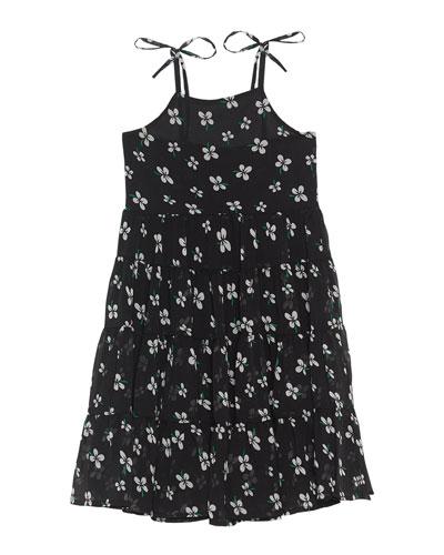 Flo Tiered Tie-Shoulder Dress, Size 8-16