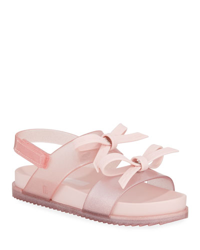 435fbec68d8 Quick Look. Mini Melissa · Cosmic Glittered Bow Sandal ...