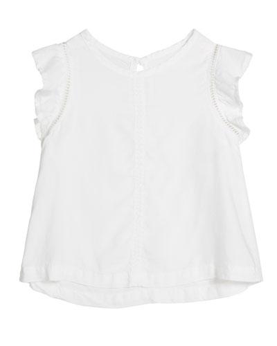 Flutter-Sleeve Top, Size 8-14