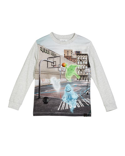 Renzi Ghosts Plating Basketball Tee, Size 4-10