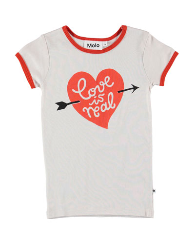 Rhiannon Love Is Real Ringer Tee, Size 4-12