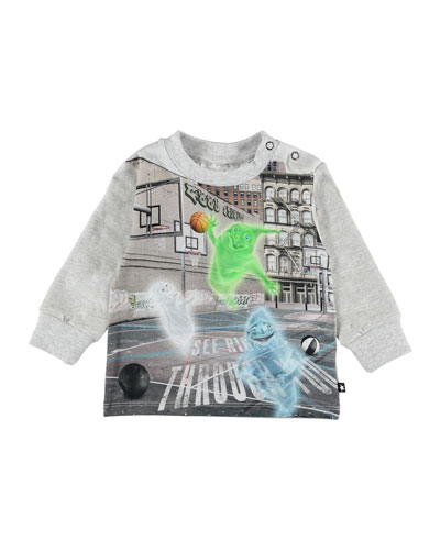 Eloy Ghosts Playing Basketball Graphic Tee, Size 6-24 Months