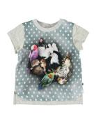 Molo Erin Pets Sleeping Graphic Short-Sleeve Tee, Size