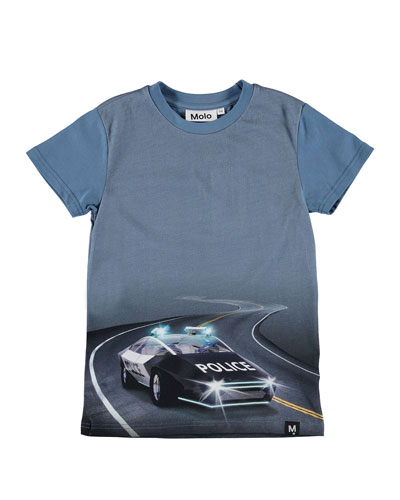 Raven Police Car Graphic Tee, Size 4-10