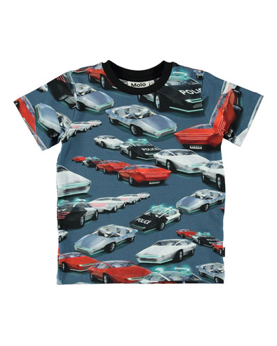 Ralphie Allover Cars Print Tee, Size 4-10